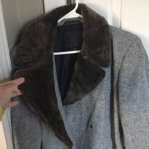 !HOST PICK! Coach wool and fur coat